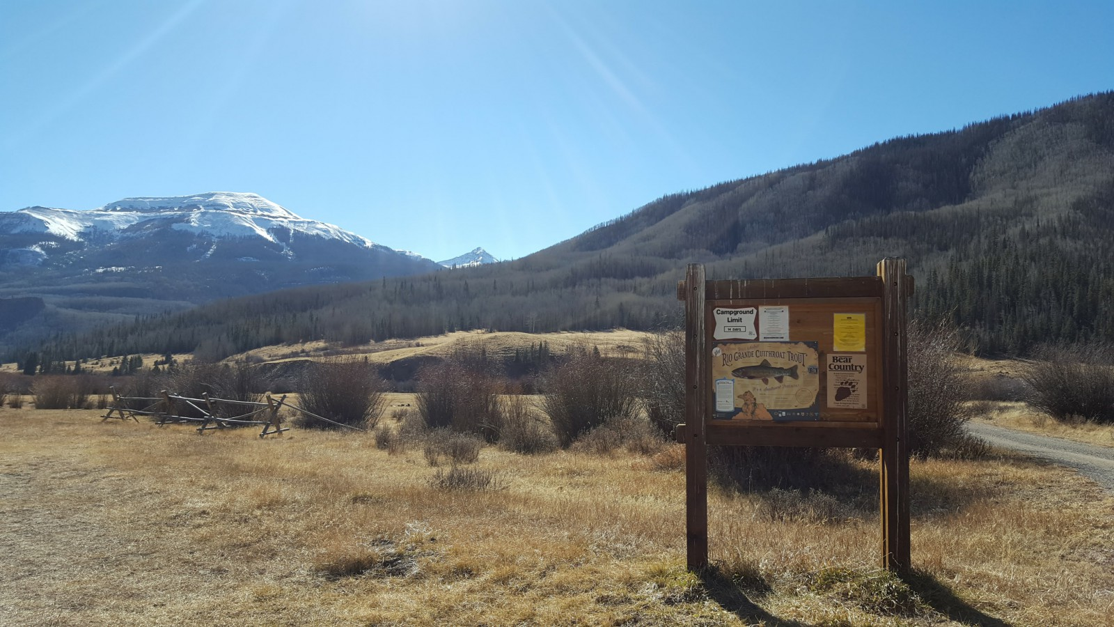 RGCT sign at Ute Creek trailhead.
